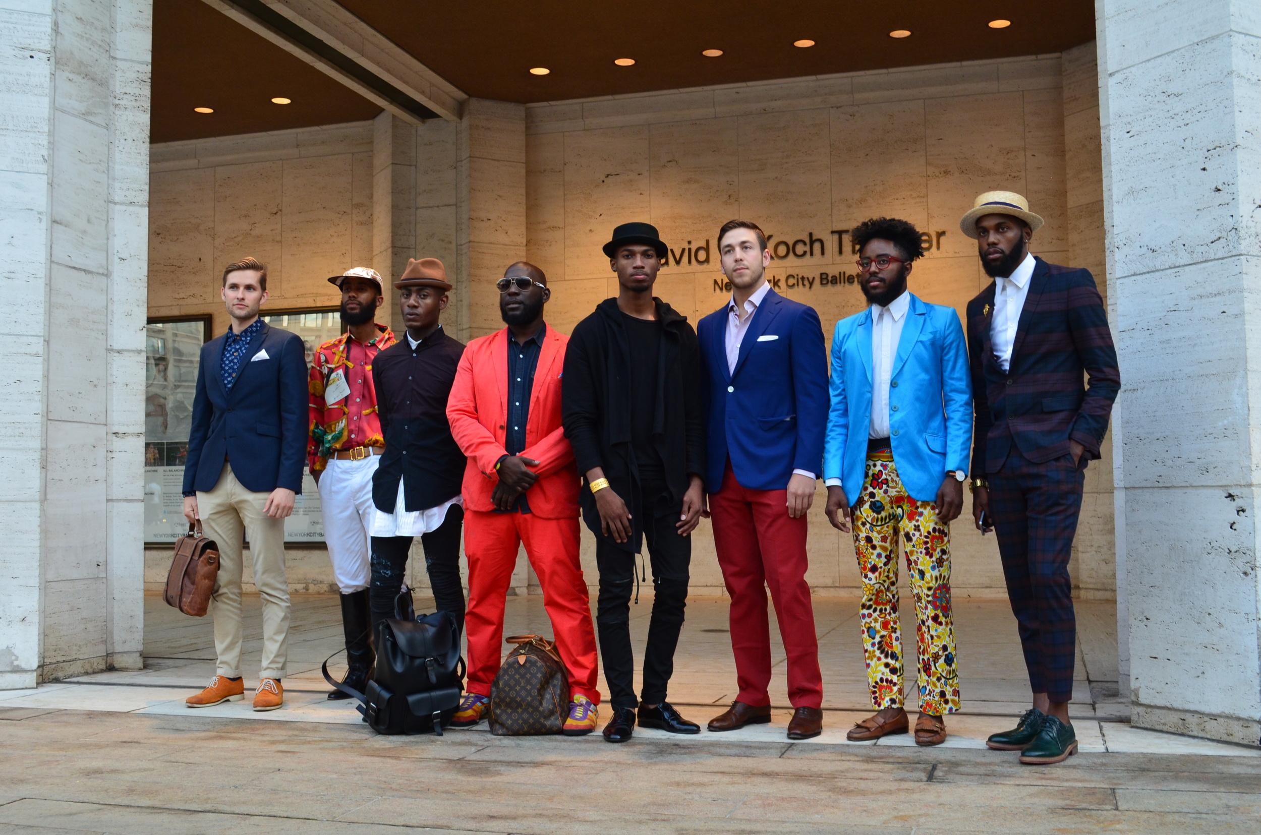 Gentlemen at Lincoln Center - New York Fashion Week.