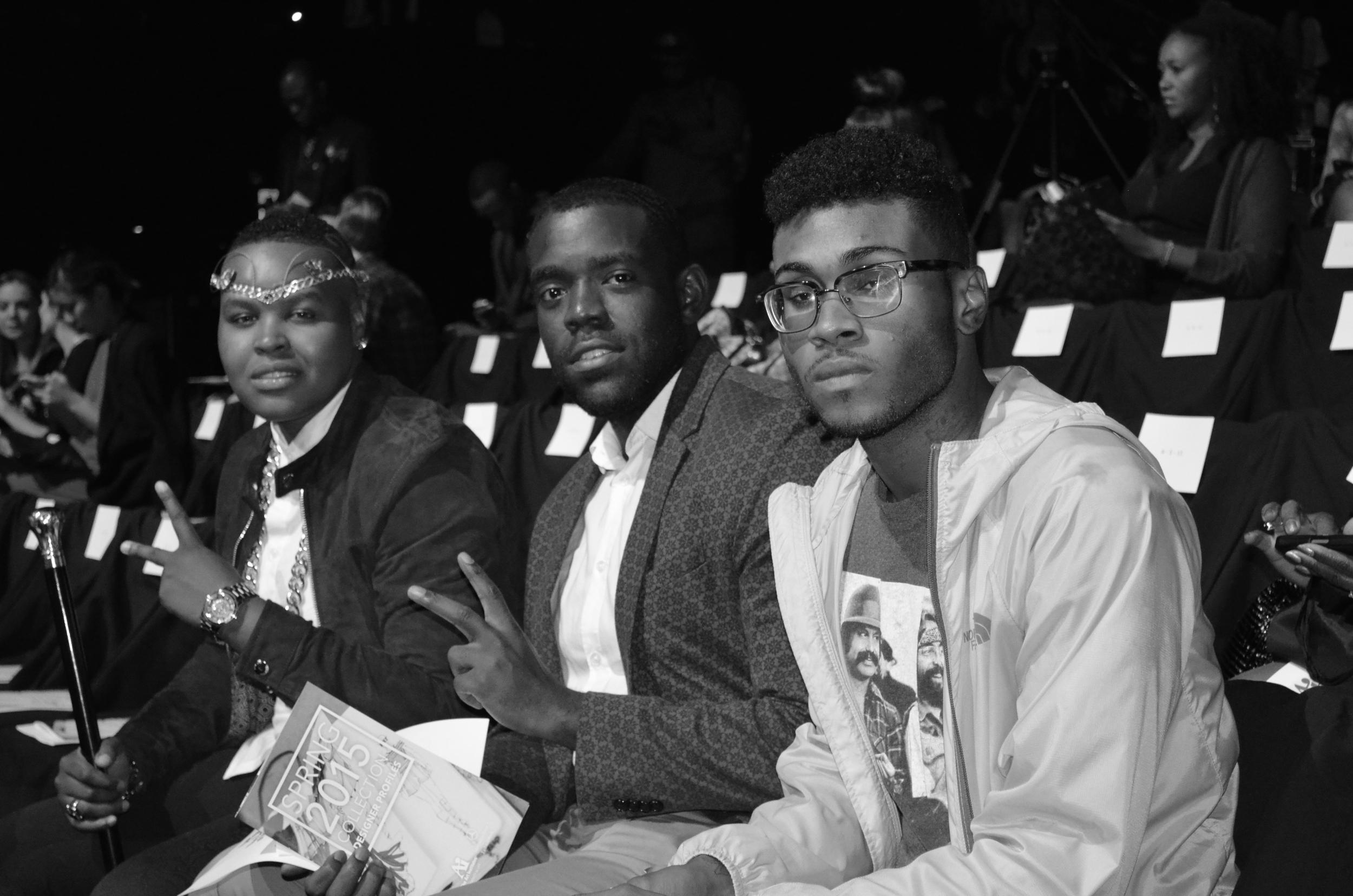 Three men, three styles at Lincoln Center - New York Fashion Week.