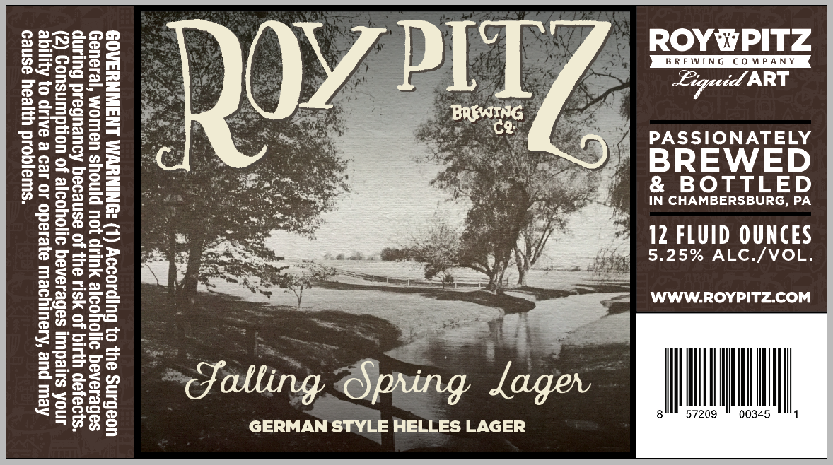 Picture of The Original Falling Spring used for the label