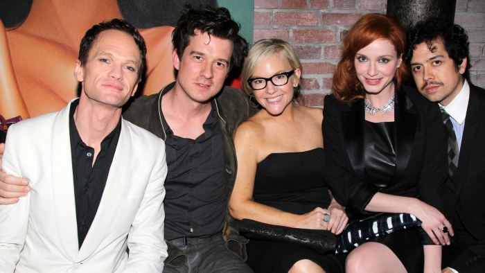 Neil Patrick Harris with pals Christian Hebel, Rachael Harris, Christina Hendricks and Geoffrey Arend.