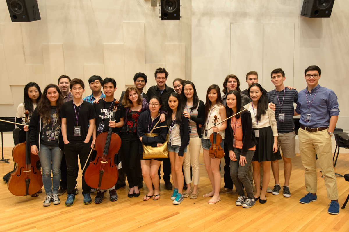 Christian Hebel with MasterClass students at YoungArts Week in Miami, FL. January 9, 2015.  Photo by Jason Koerner