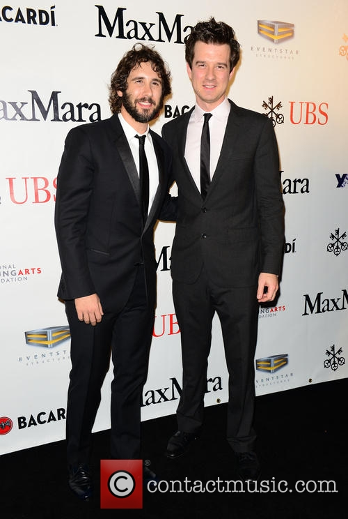 Christian Hebel with Josh Groban YoungArts Backyard Ball January 10, 2015 Miami, FL. Photo from Contact Music.