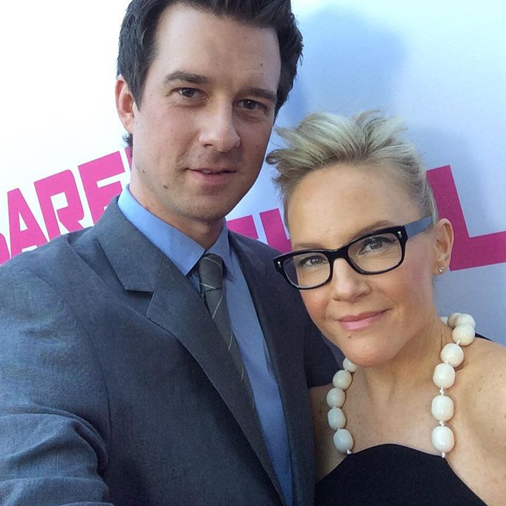 Christian Hebel and Rachael Harris at premiere of Barely Lethal movie