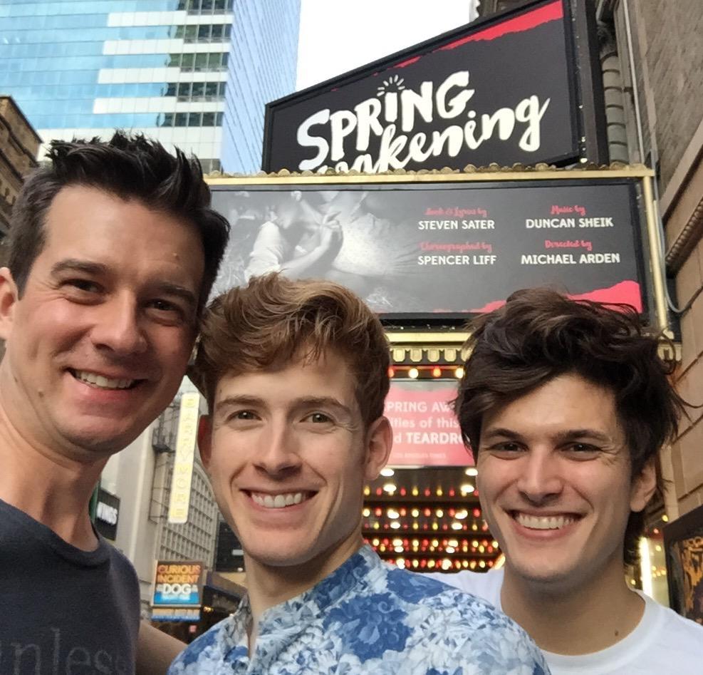 Ready to do our invited dress rehearsal for  #SpringAwakening  on Broadway!!!  @DanieStew   @AlexBoniello   pic.twitter.com/bGh7OReqaI  — Christian Hebel (@christianhebel)  September 6, 2015