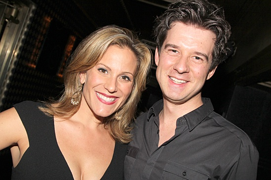 October 30, 2013 Original cast member Kristy Cates and world-famous violinist Christian Hebel pose for a photo Wicked 10 celebration     Photo from  Broadway.com  -