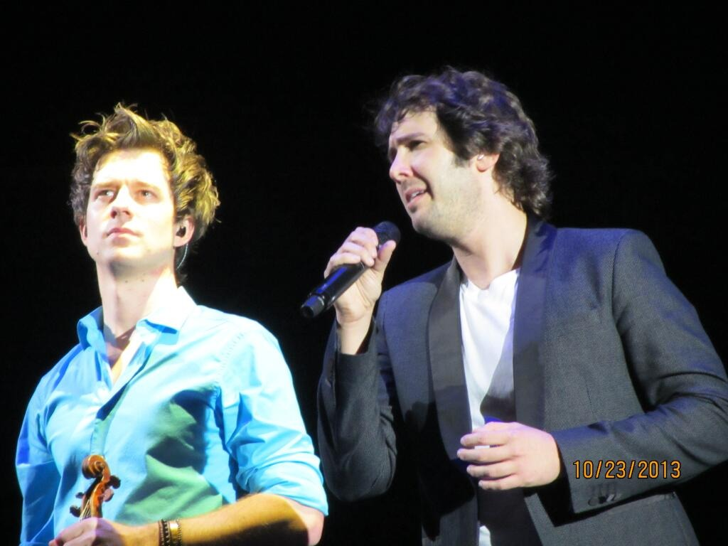 October 23, 2013 Performing with Josh Groban at The Palace Of Auburn Hills Detroit, MI In The Round Tour    Photo courtesy of Jenny (@missjenann)