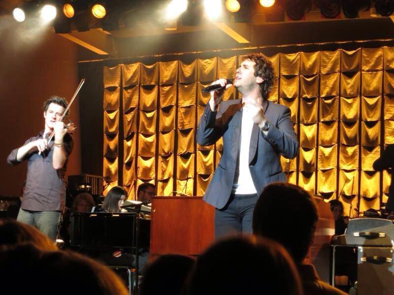 August 12, 2013 Performing with Josh Groban at Kresge Auditorium, Interlochen, MI    Photo by Cathy Boissoneau posted on Twitter by Elizabeth Uhl