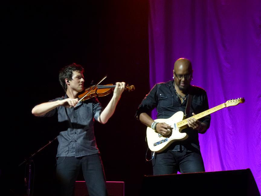 June 10, 2013 Performing with Tariqh Akoni during the All That Echoes Tour at the Grand Rex, Paris, France   Photo courtesy of Marta Lenatowicz