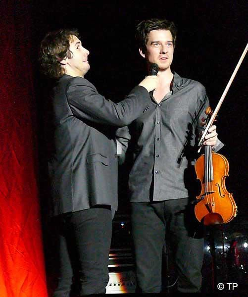 Performing with Josh Groban, event, date, location not indicated.   Photo courtesy of TP