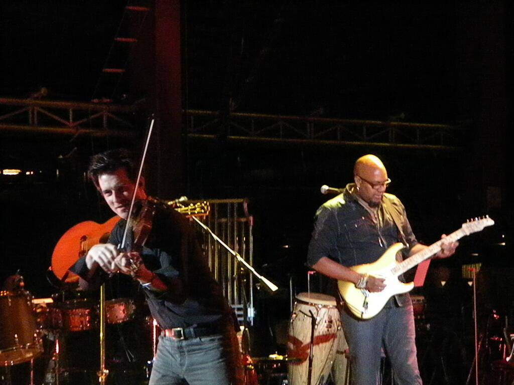 July 7, 2013 Performing with Tariqk Akoni at Red Rocks, Morrison, CO    Photo courtesy of Jacque Briley