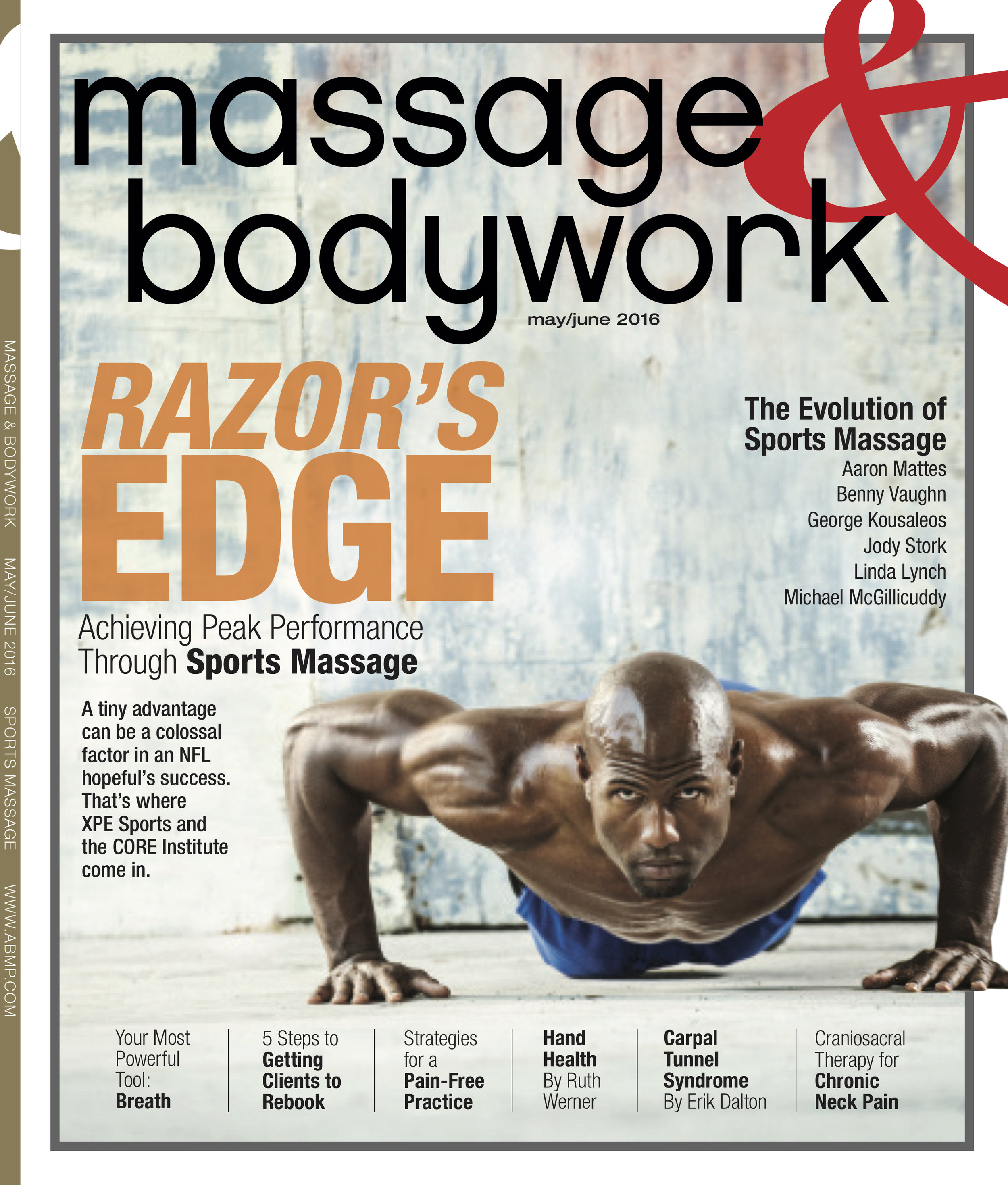 """Breath: Your Most Powerful Tool""  David M. Lobenstine  Massage & Bodywork  May/June 2016"