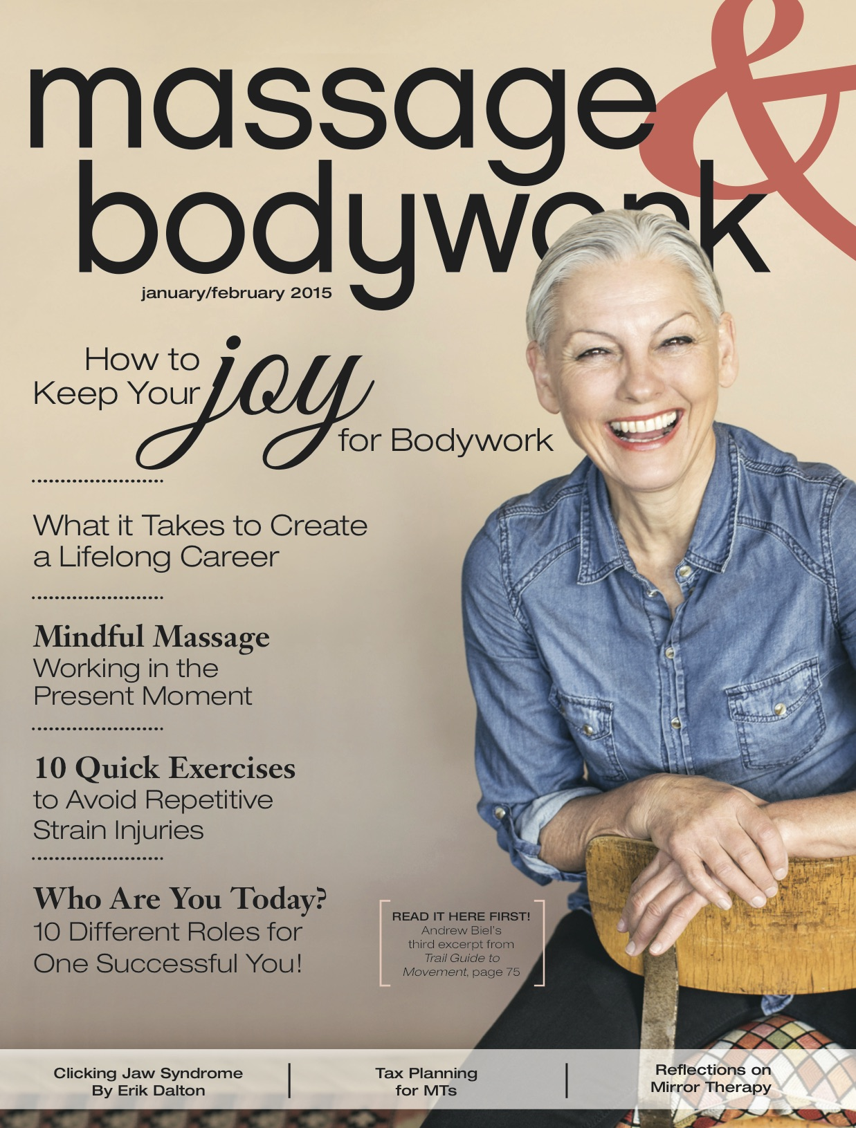 """Mindful Massage: Working in the Present Moment""   David M. Lobenstine  Massage & Bodywork  January/February 2015"