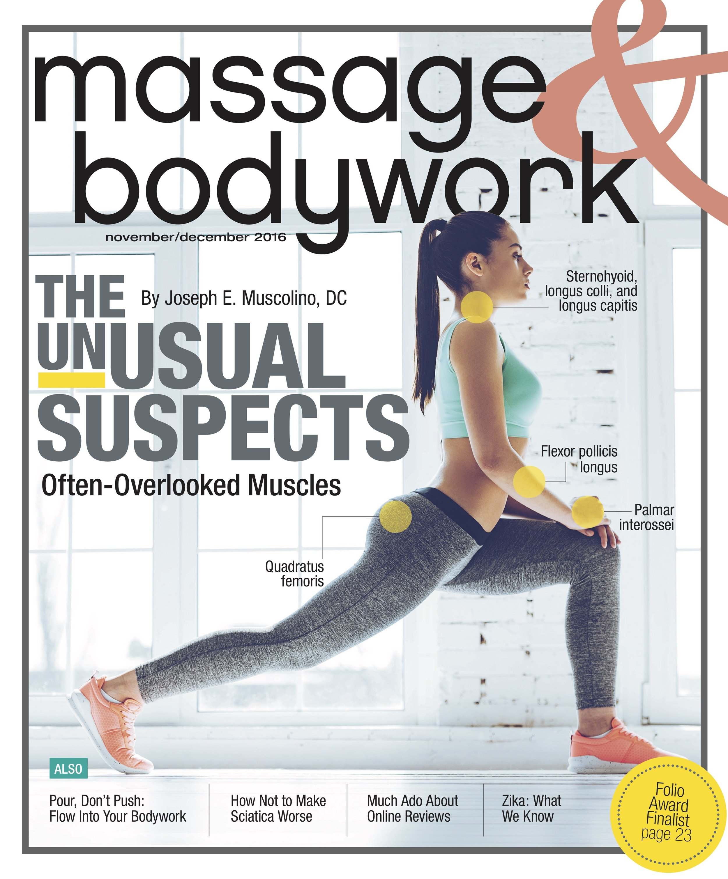 """Pour Don't Push: How to Massage with Greater Depth and Ease""  David M. Lobenstine  Massage & Bodywork  November/December 2016"
