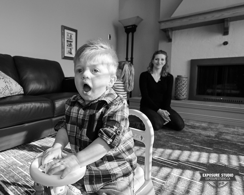 Photos of Bryson Spielmacher just after his first birthday.