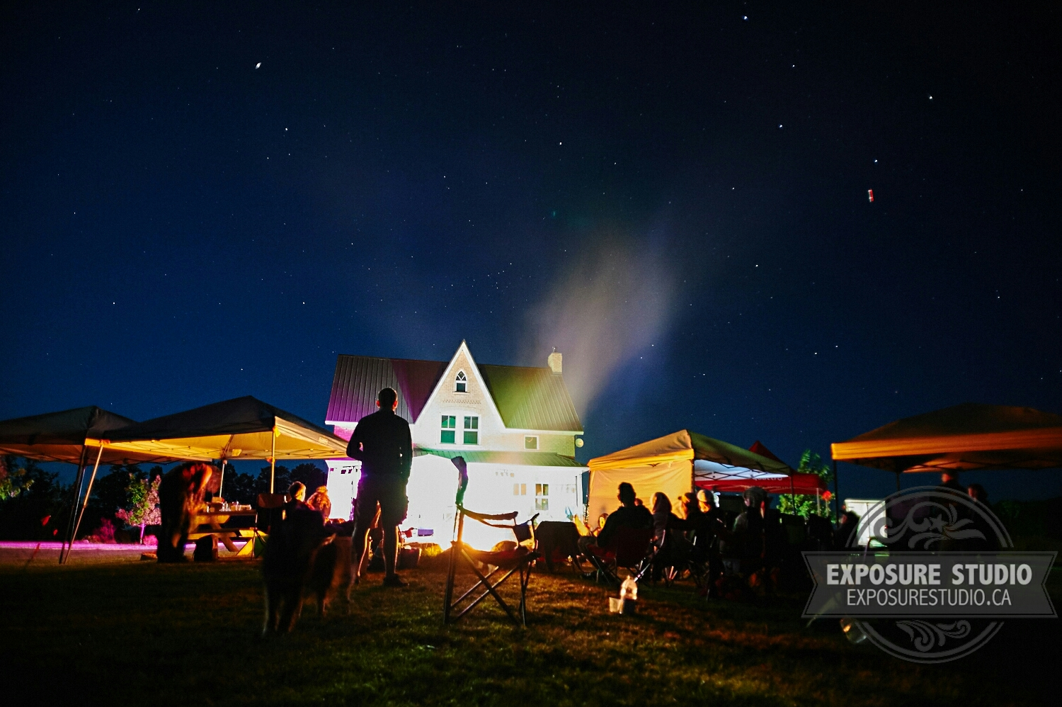The glow of musical genius and the night sky of Beaver Valley illuminating theminds at  EppingFest 2015