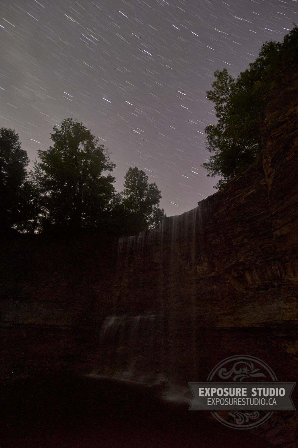Light Trails Over Indian Falls