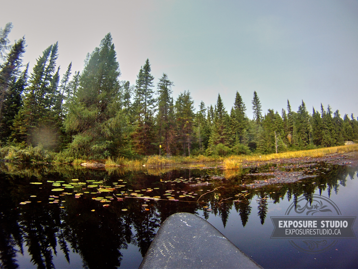 Behind the scenes during the Northern Exposure series of the Ontario Parks Project.