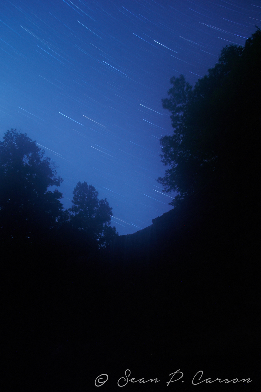 Star Trails Over Indian Falls Conservation Area