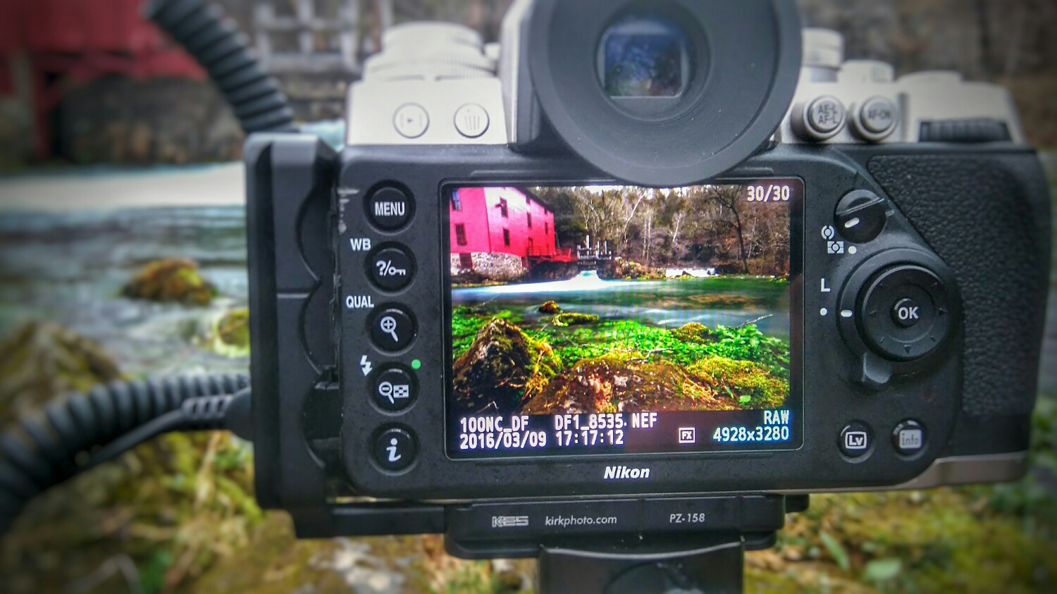 Getting the money shot at Alley Spring in the Ozark National Scenic Waterway Park.