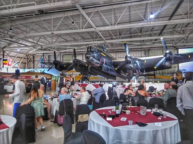 It has been a pleasure shooting the #wedding for Gord and Hali at the #CanadianWarplaneHeritageMuseum.  This place is filled with amazing and #creative ways to #photograph the couple.  The night is still young and the party is still going strong.  #weddingphotography #weddingseason #exposurestudio #Photographer #hamilton