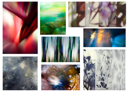 """Our """"inspiration board"""" of images that fit the feel our client is going for."""