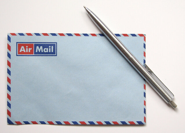 Best SEO newsletters depicted by a photo of an air mail envelope