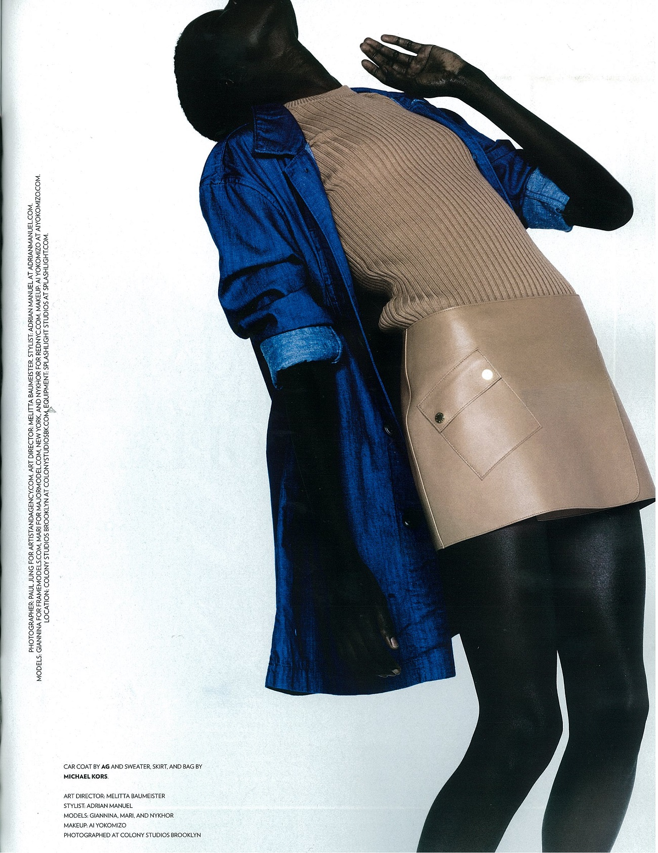 Flaunt Magazine- Issue 131- Car Coat in Aurora Sky