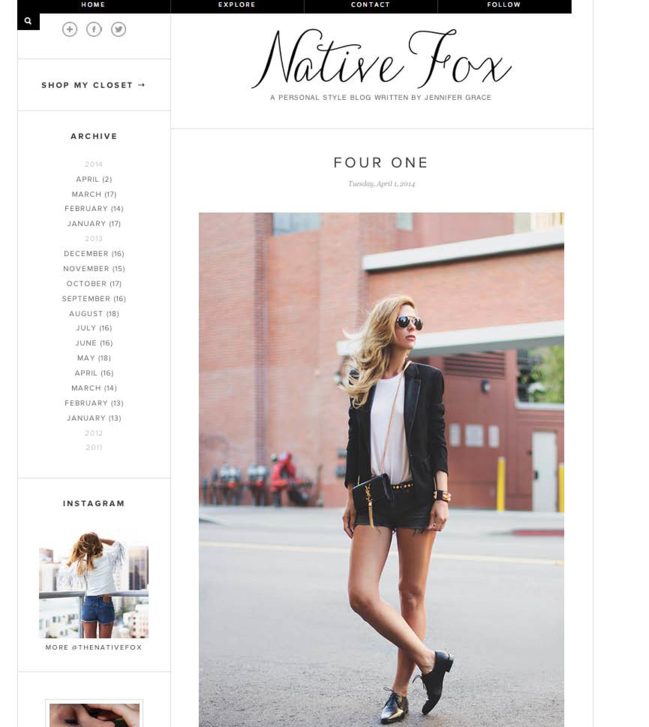 Native Fox- Wren Muscle Tee