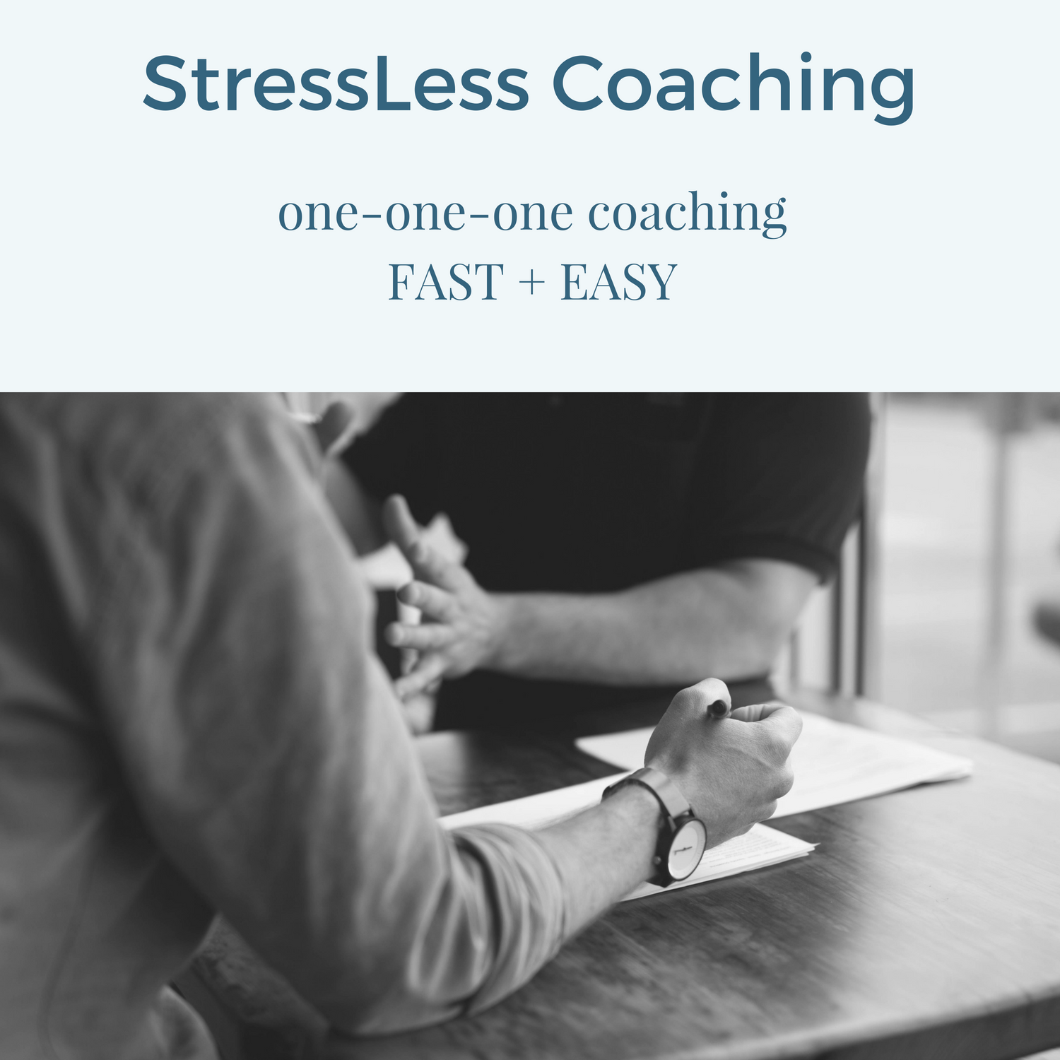 one on one stressless coaching