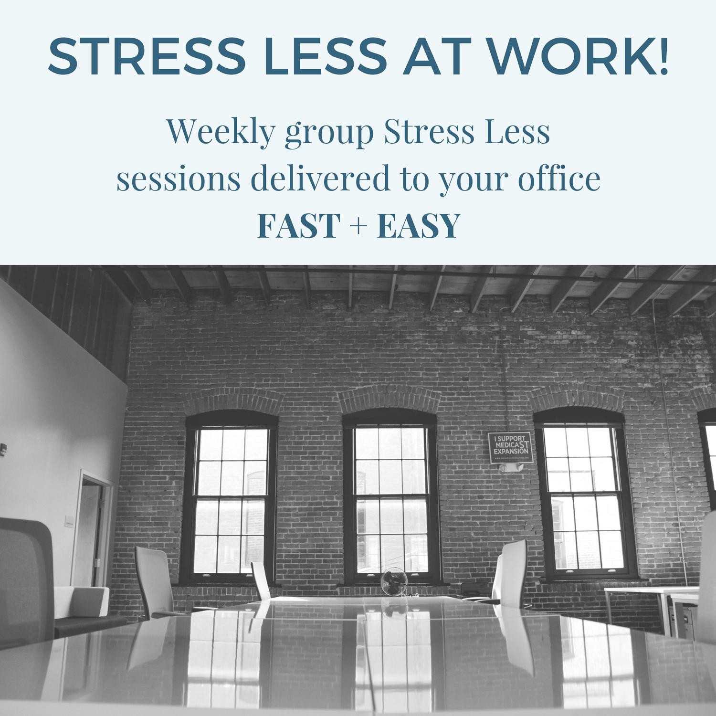 stress less at work
