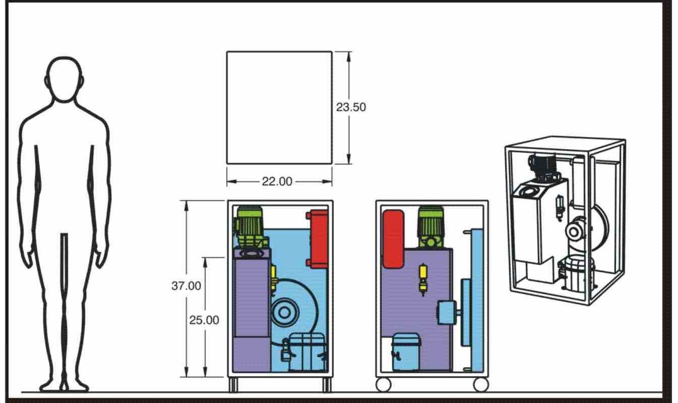 One of 14 mechanical system layouts for the family of chillers