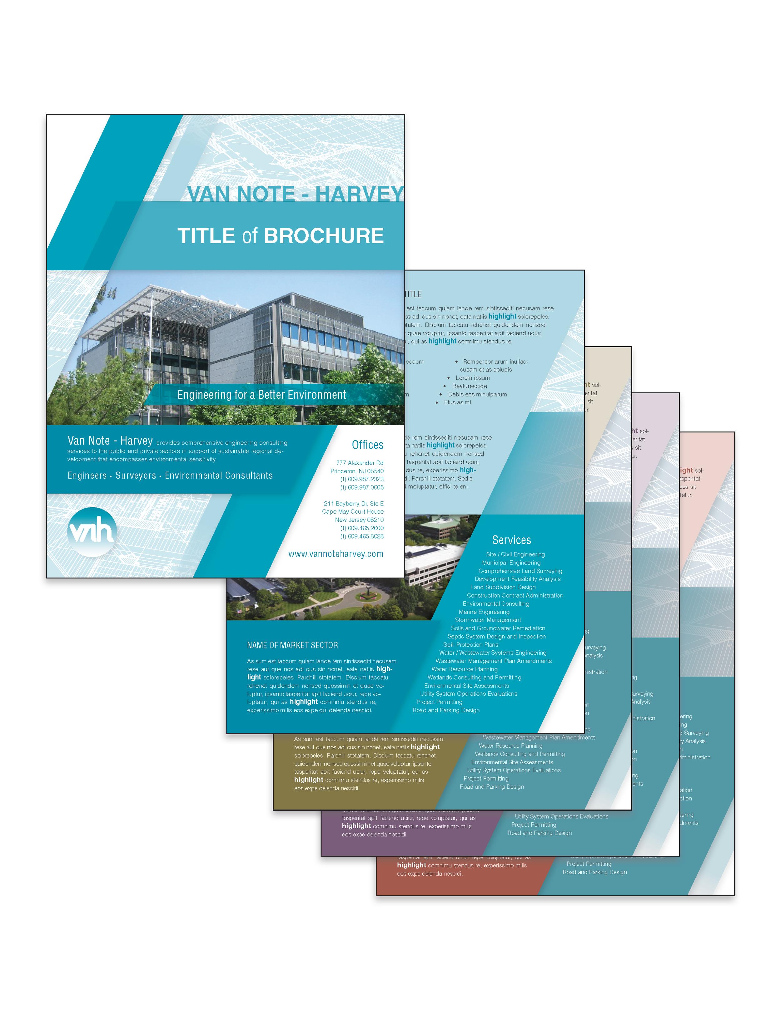 Brochure set for multiple sectors.