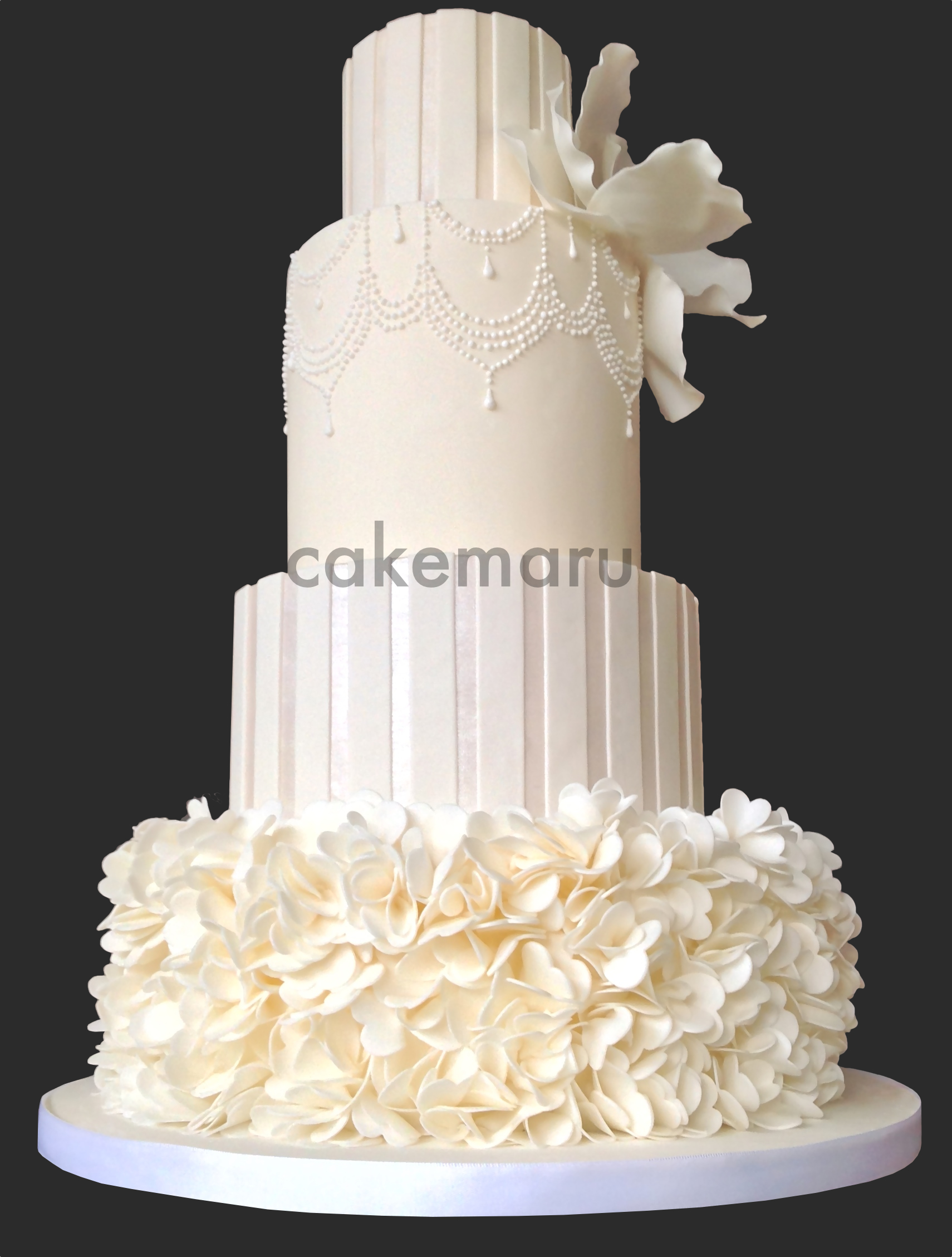 White Stripes and Ruffles Cake 1.jpg