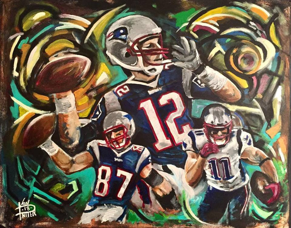 "Big 3, 30"" x 40"" acrylic on canvas"