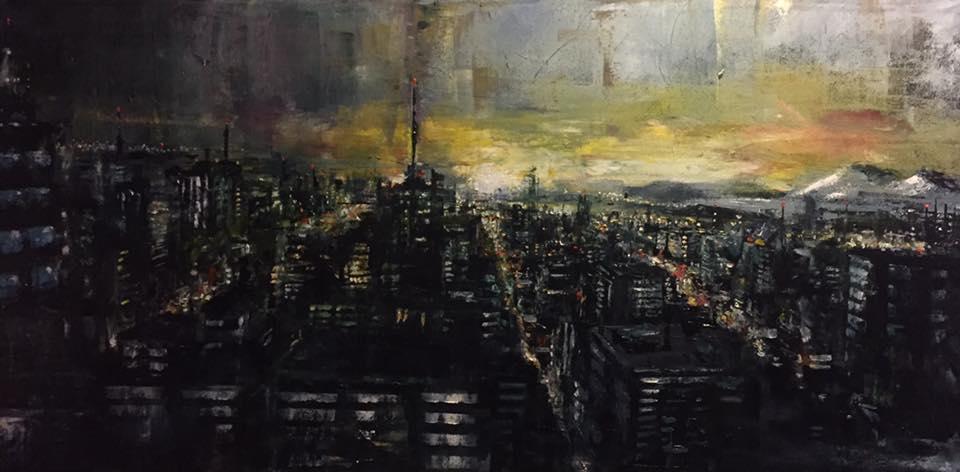 """Metropolis, 24"""" x 36"""" oil on canvas (2018)"""