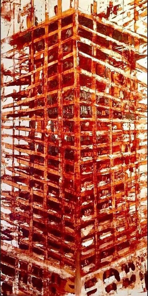 "Construct, 12"" x 24"" oil on panel (2017)"