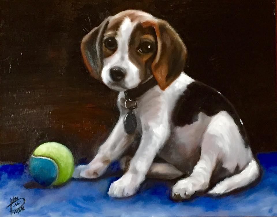 "Moxie, 16"" x 20"" oil on canvas (2016)"
