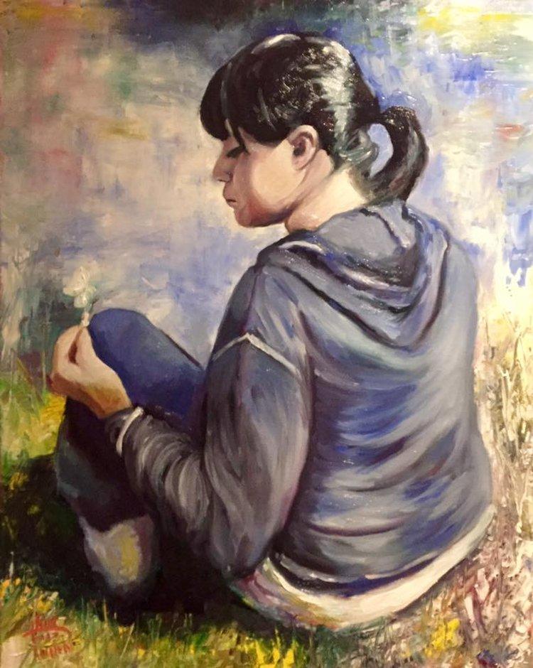 """Sabrina, 16"""" x 20"""" oil on canvas (2017)"""