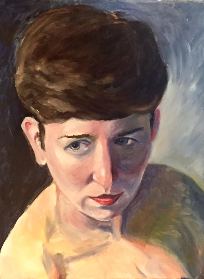 "Mrs. 16"" x 20"" oil on canvas (2017)"