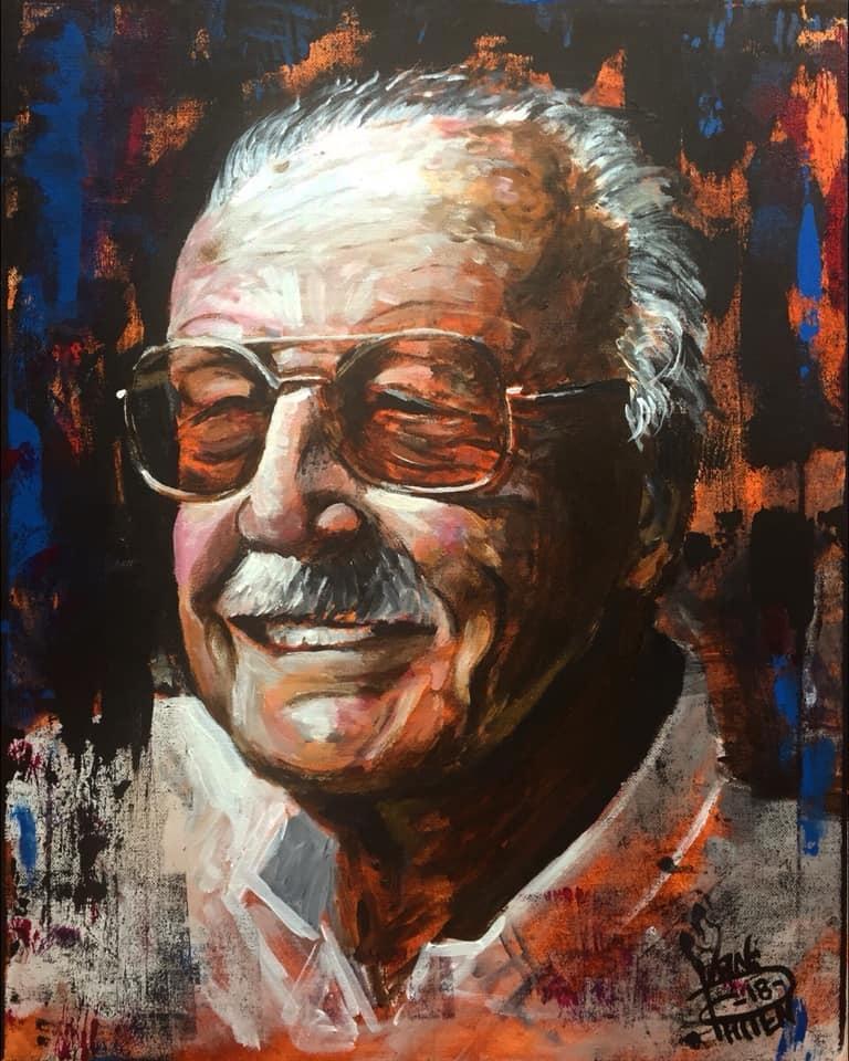 "Stan, 16"" x 20"" acrylic on canvas (2018)"