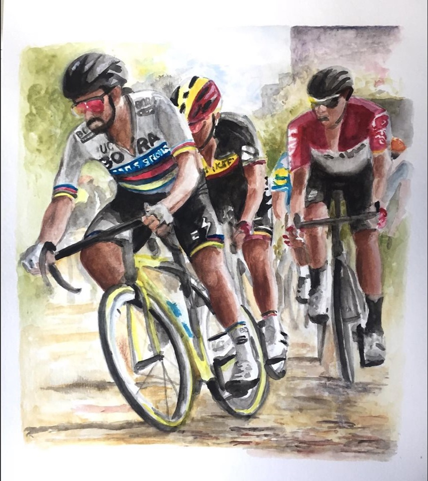 "Sagan, 12"" x 18"" watercolor on paper (2019)"