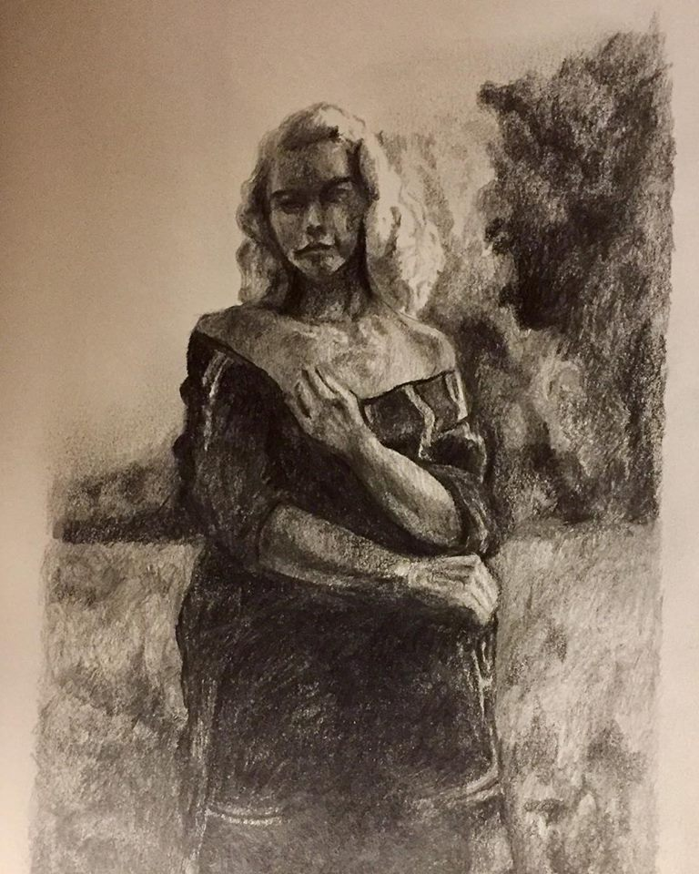 Female Figure, graphite on paper (2018)