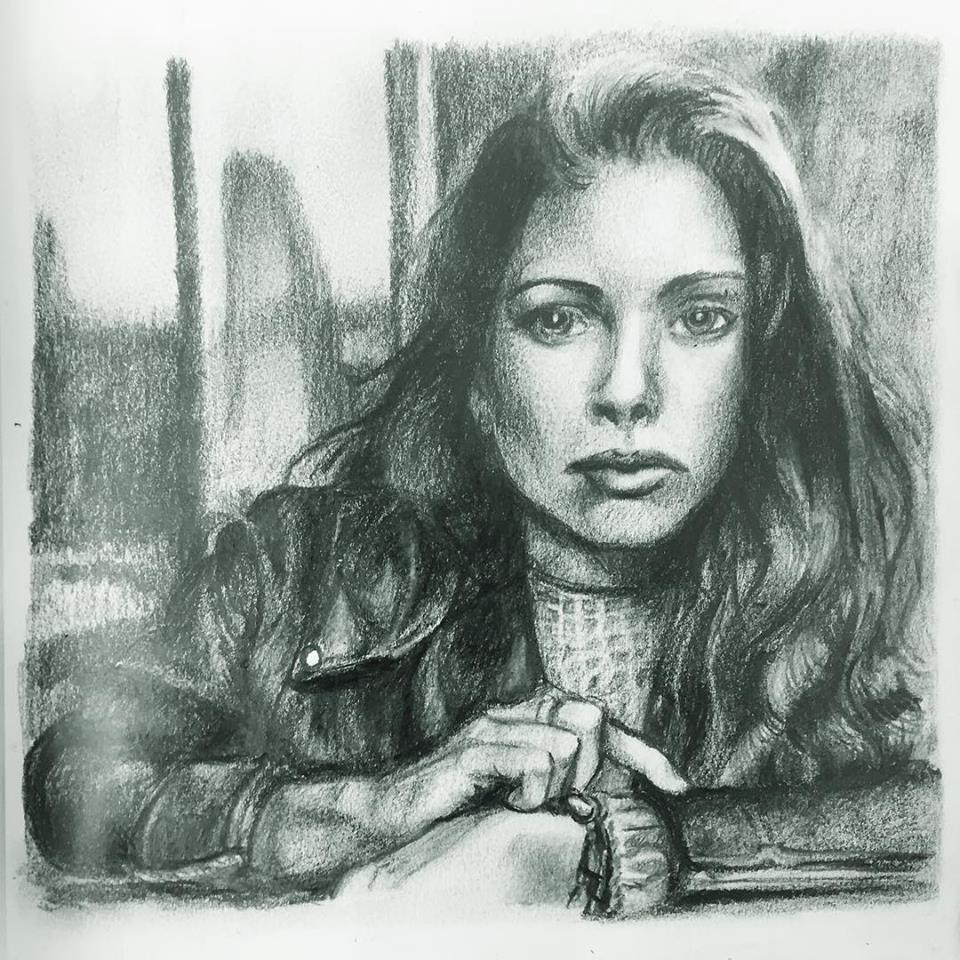 Female Portrait, graphite on paper (2018)