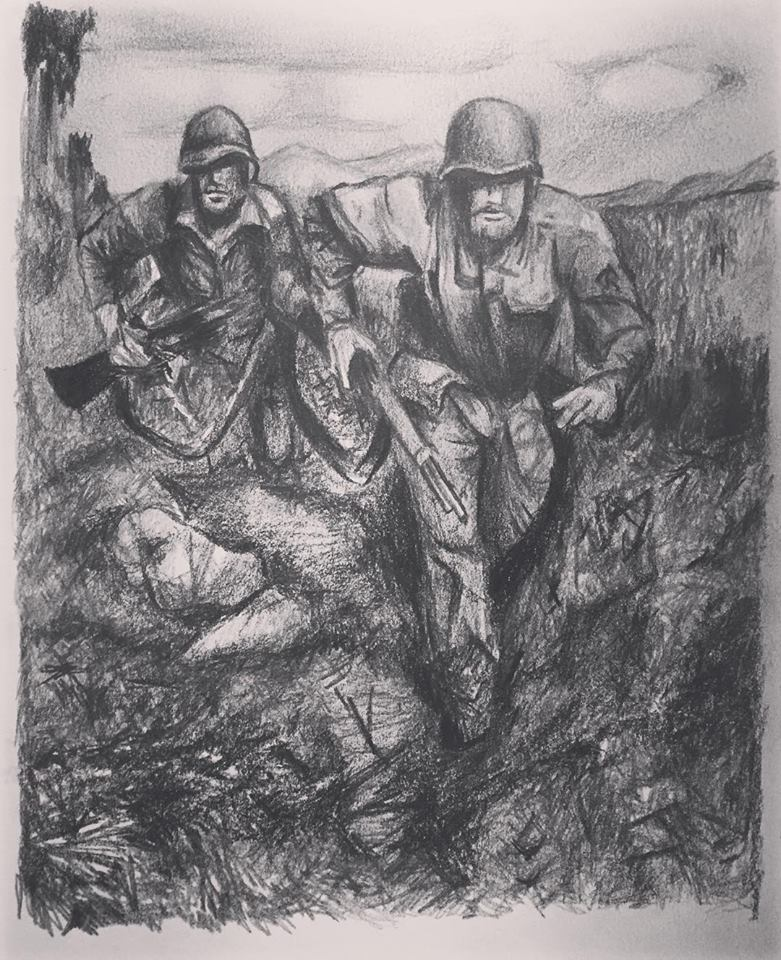 War, graphite on paper (2018)