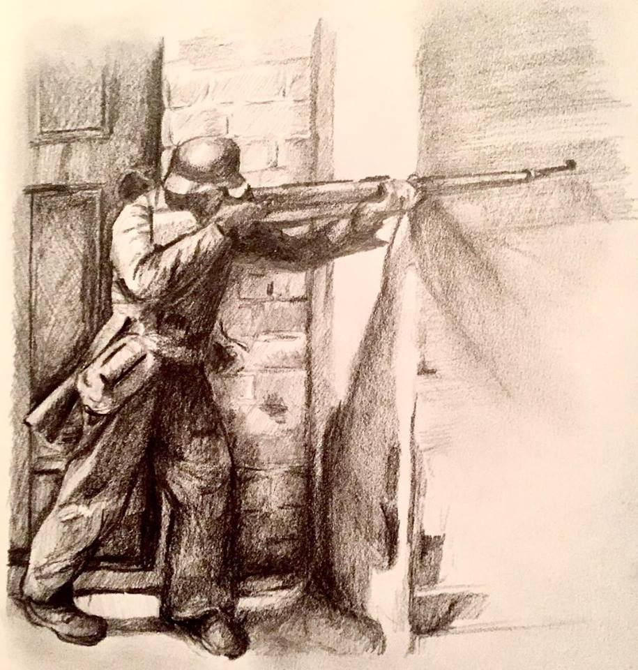 War 2, graphite on paper (2018)