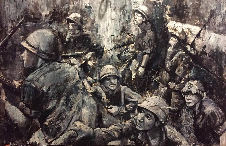 """The Trench 18"""" x 24"""" oil on panel (2018)"""