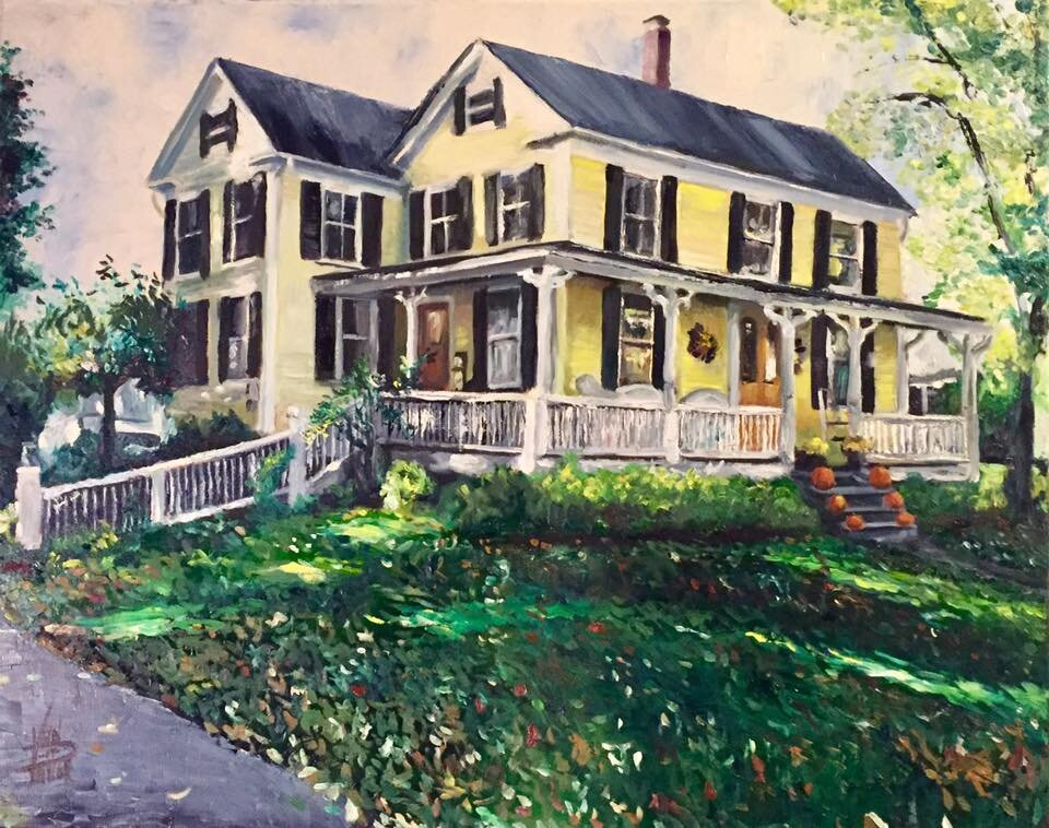 """""""Patrick's House (Commission)"""" 18"""" x 24"""" Oil on Canvas (2017)"""