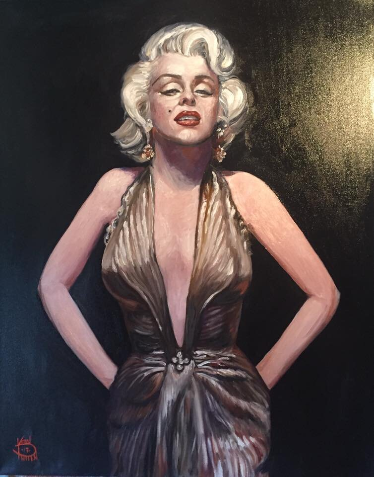 """""""Marilyn (Commission)"""" 16"""" x 20"""" Oil on Canvas (2017)"""