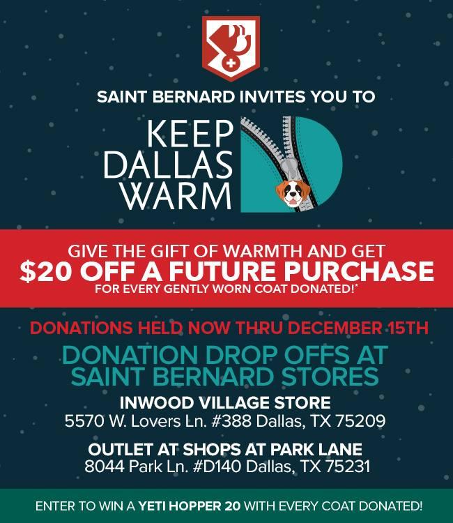 Thank you Saint Bernard Stores!