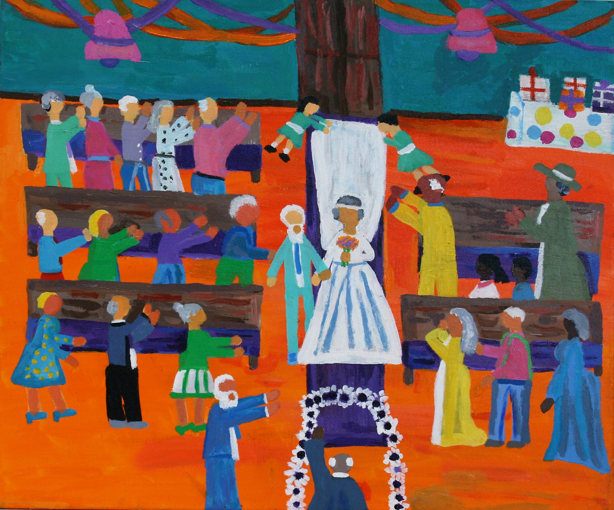"""Cornelious Brackens, Jr. """"An Old Wedding For Old People Only!"""" 20 x 24, $295"""